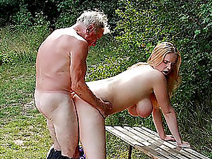 Very old outdoor porn