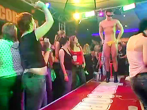 Horny Whores Disrobe To Their Underpants and Suck Hard-on At Hot CFNM Soiree