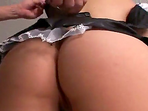 Sexy Whorish Maid Kristina Rose Jiggling Her Big Booty on a Hard Dick