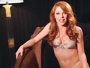 Magnificent Red-haired Stunner Tawny Swain Talking And Flashing Her Figure