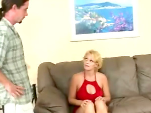 Mature Blonde Gets Her Arse Paddled Until it is Crimson