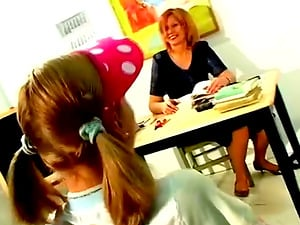 Nubile Bi-atch Is Used By Her Girly-girl Mummy Professor With Big Faux-cock