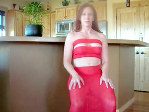 Red-haired cougar likes ardent ass-fuck bang-out in the kitchen