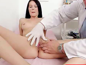 Sexy Dark-haired Gets Weird Injections From Her Nasty Doc