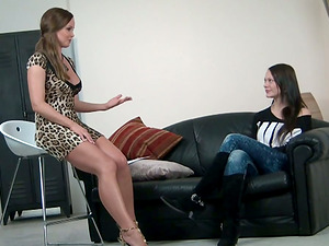 It's the Casting Couch for This Ultra-cute Bitch in Sexy Jeans