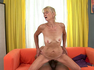 Granny Relives her Youth by Taking Some Big Black Penis