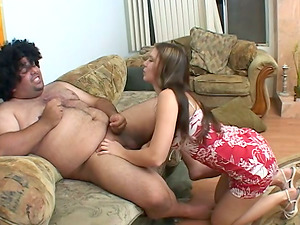 Hot Alicia Alighatti gargles lil' dick and gets a throatful