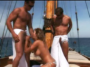 Outdoor Pirate Boat Threesome