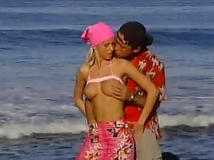 Blonde Taking This Fluky Plower For A Rail On The Beach