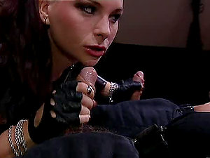 Fetish movie with high high-heeled shoes boots, leather costumes and spandex