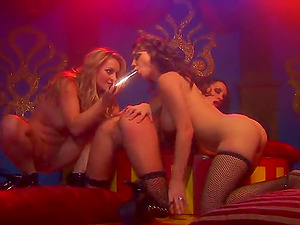 Slurping and Frolicking Galore in a Wicked Lezzy Threesome