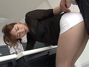 Sexy Office Female In Miniskirt Makes Her Chief crazy