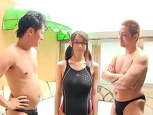 Threesome hook-up with the horny Japanese nubile Wakaba Onoue
