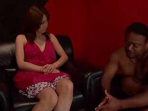 Subordinated Japanese Chick Frigs Her Snatch
