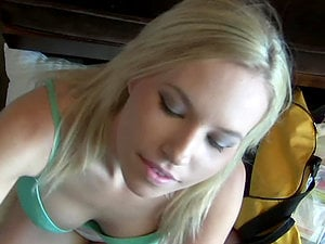 Gorgeous Blonde Doll Gets Jizz on Her Beautiful Tits in Point of view Handjob Vid