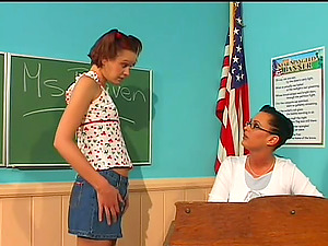 Nubile Coed and Her Hot Instructor Use a Strapon