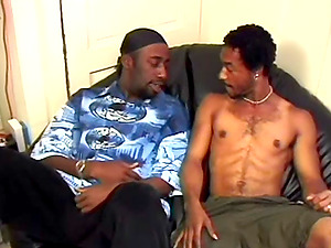 Faggot black guys have hump on a couch