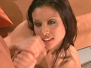Sexy brown-haired in stockings gets fucked in all known poses