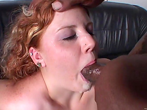 Cherry Poppens gets her crevices wrecked by two black studs