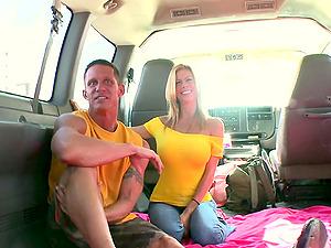 Hetero Stud Goes Homosexual During a Van Rail
