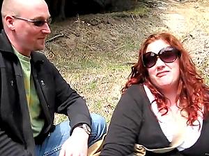 Two bitches Monika Maple and Jennifer Van Beaver have joy outdoors