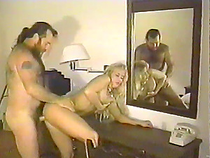 Sexy blonde is fucked by her horny man in antique clip