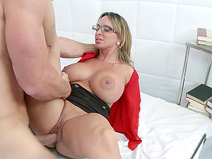 Gonzo reality clip with lewd blonde medic Holly Halston