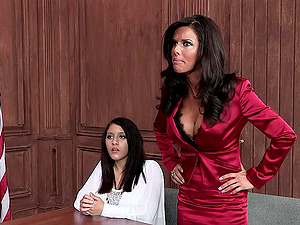 Horny Lawyer Gets Banged Gonzo Doggystyle In Miniskirt