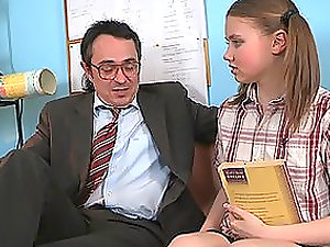 Uber-cute Nubile Honey Fucking Her Lecturer So Hard and Adorably!