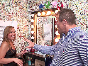 Shemale Beauty Khloe Hart Takes A Hard Shaft In The Dressing Room