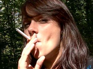 Gonzo outdoor solo movie with preggie dark-haired Embrianna