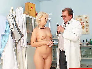 Sexy Blonde Mummy Gets Her Vagina And Booty Frigged By Her Doc