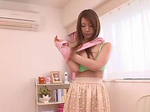 Yuuka Tachiban shows her big natural knockers and titfucks a prick