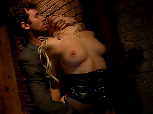 Romp Sub in Leather Gets Rough Fucked in a Basement