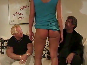 Charming Blonde In High High-heeled slippers Gets Slammed In Reality