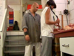 Nasty Dark haired With Hot Culo Gets Her Smooth-shaven Snatch Screwed Doggystyle