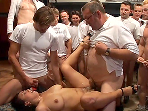 Horny Cougar Gets Fucked By A Group Of Dudes In A Xxx Gang-bang
