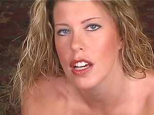 Mischievous blonde beauty Bree Brooks gives massive manstick a point of view oral job
