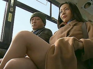 First-timer Asian Duo Meets In The Bus And Fuck