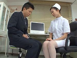 Asian Nurse In Nylon Pantyhose Luvs Her Vulva Being Tongued