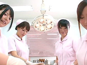 Horny Japanese Nurses Gets Oiled In A Hot And Gonzo Group Bang-out