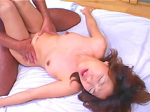 Horny tart gets facial cumshot cum-shot and takes dick in her hairy beaver