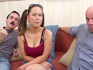 Oral pleasure loving fuckslut takes dicks in cunt and mouth in old and youthfull film