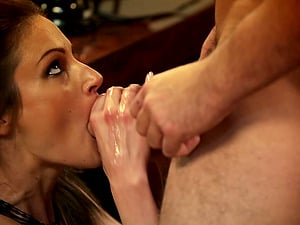 Lovely pornography sweetheart Samantha Ryan gets banged with a hot cum shot
