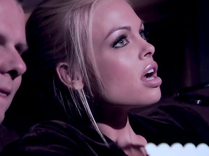 Jesse Jane give blowage and gets banged gonzo in movie theater