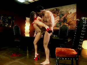 Naomi rails dick in crimson high stilettos and gets ass fucking ravaging