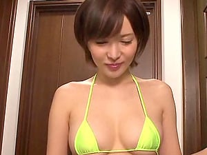 Raunchy Japanese pornography starlet gets slammed in a wild group bang