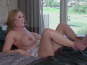 A stud gets to bang his best friend's huge-chested, hot mom