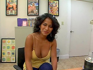 Point of view movie with horny Colombian Mummy getting fucked in the office