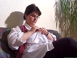 One chubby and two mature honies masturbating separately